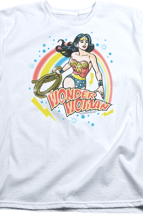 Womens Airbrush Wonder Woman Shirt