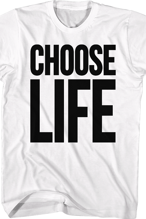 2c4cd5faad1 WHAM Choose Life T-Shirt  WHAM Mens T-Shirt