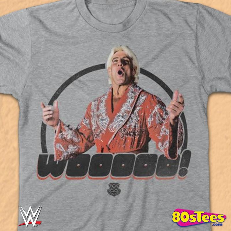 3002988bd23 Wooooo Ric Flair T-Shirt  80s Vintage Wrestling Shirts