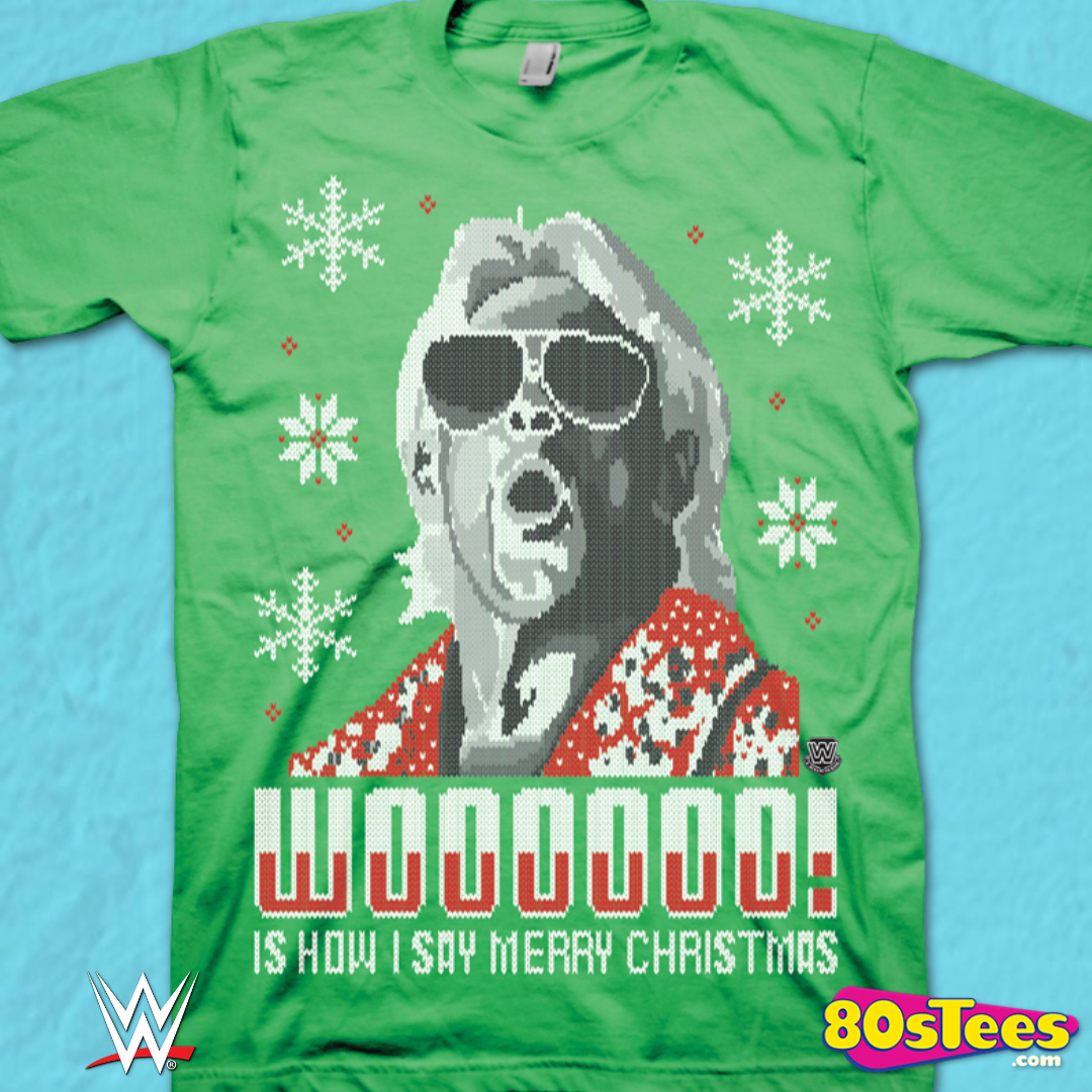 Wooo T-Shirt Ric Flair Funny t shirt retro wrestling nature boy classic WWF 4