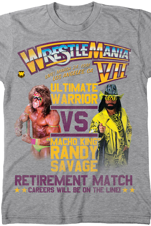 Ultimate Warrior vs Randy Savage WrestleMania T-Shirt