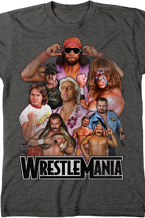 f419c7899 WrestleMania Legends T-Shirt: WWE Wrestling Mens T-Shirt