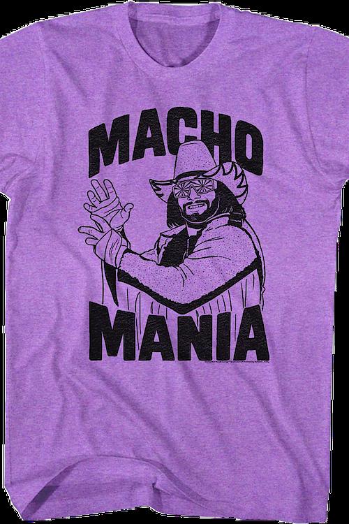 Macho Clothing Co: Macho Mania Randy Savage T-Shirt: Macho Man Randy Savage