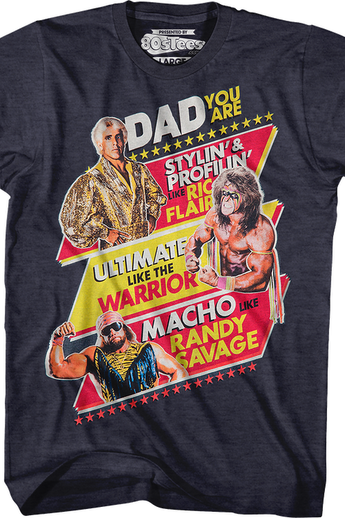 e2148855 WWE Legends Father's Day T-Shirt: WWE Mens T-Shirt
