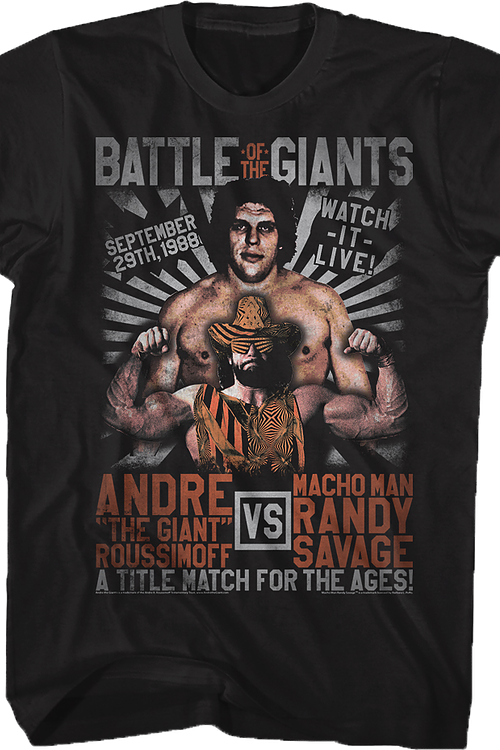 Andre The Giant vs Macho Man Randy Savage T-Shirt
