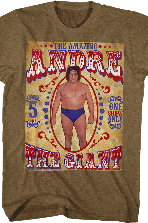 Sideshow Poster Andre The Giant T-Shirt