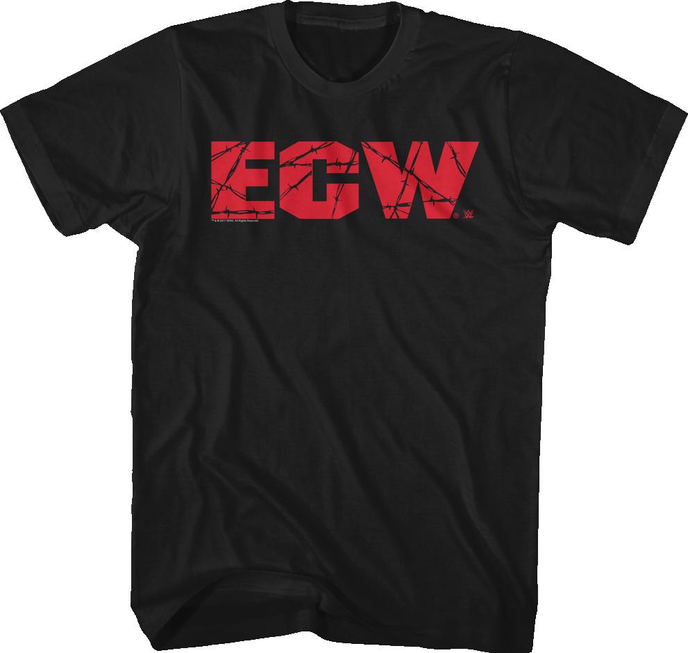ECW Logo T-Shirt: WWE Wrestling Mens T-Shirt