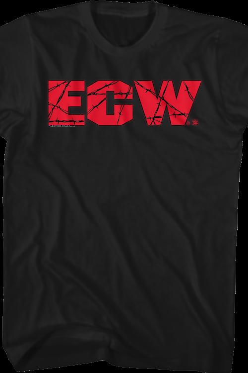4a4c07eabed ECW Logo T-Shirt  WWE Wrestling Mens T-Shirt