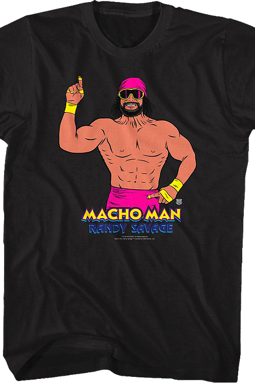 Illustrated Macho Man Randy Savage T-Shirt