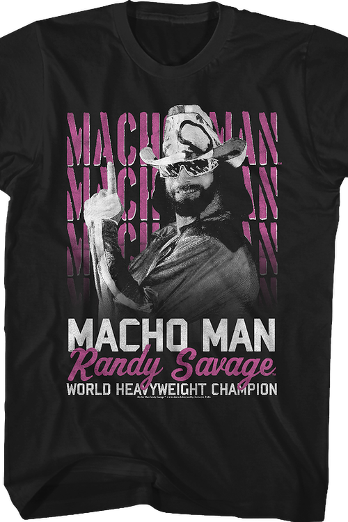 World Heavyweight Champion Macho Man Randy Savage T-Shirt