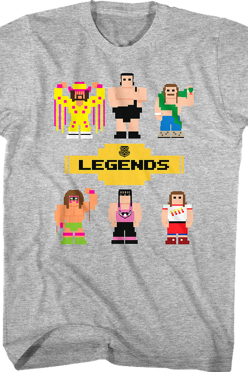 8-Bit WWE Wrestling Legends T-Shirt