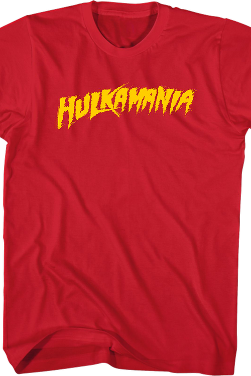 Red Hulk Hogan Hulkamania Shirt