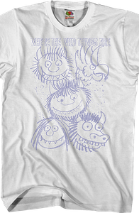 Sketches Where The Wild Things Are T-Shirt