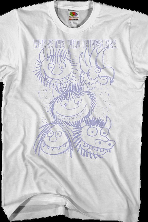 Dove Le Cose Selvagge Sono T-shirt hVYvH6MwN