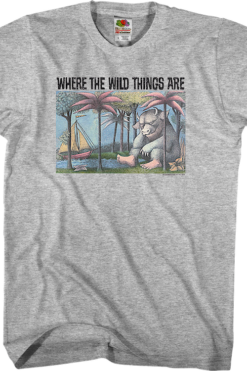 Where The Wild Things Are Book Cover T-Shirt