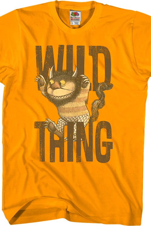 Moishe Where The Wild Things Are Orange T-Shirt