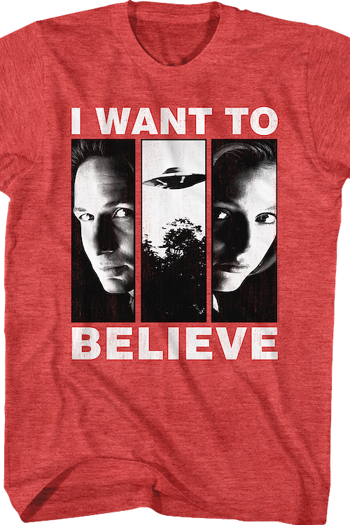 I Want To Believe X-Files T-Shirt