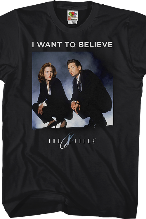 Scully and Mulder Want to Believe X-Files T-Shirt