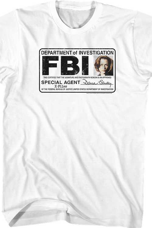 Special Agent Dana Scully X-Files T-Shirt