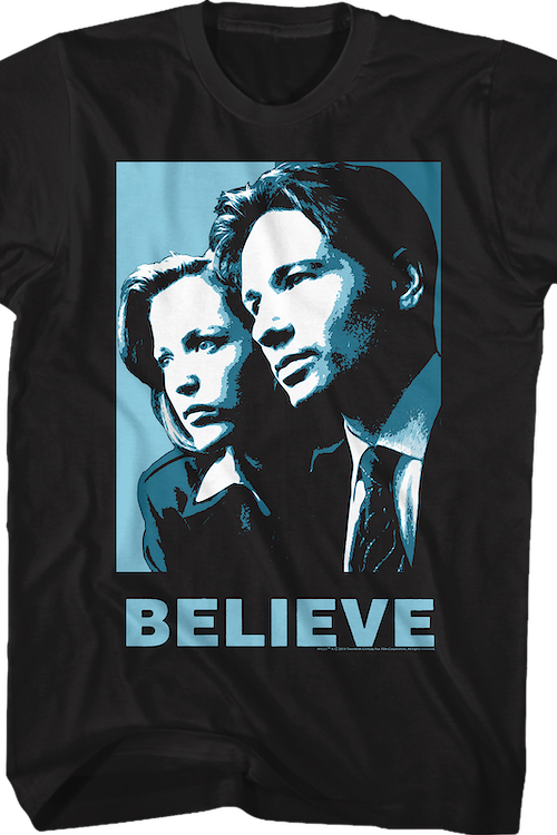 Scully and Mulder Believe X-Files T-Shirt