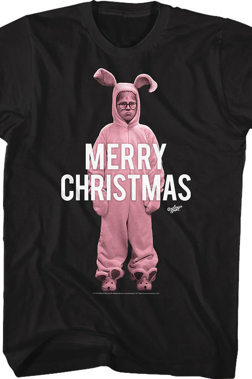 0c896abc3f53 Pink Bunny Merry Christmas Shirt: Christmas Story Mens T-shirt