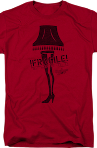Fragile Leg Lamp Christmas Story T-Shirt