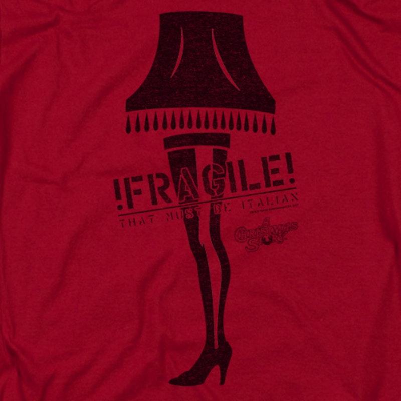 Christmas Story T Shirts.Fragile Leg Lamp Christmas Story T Shirt