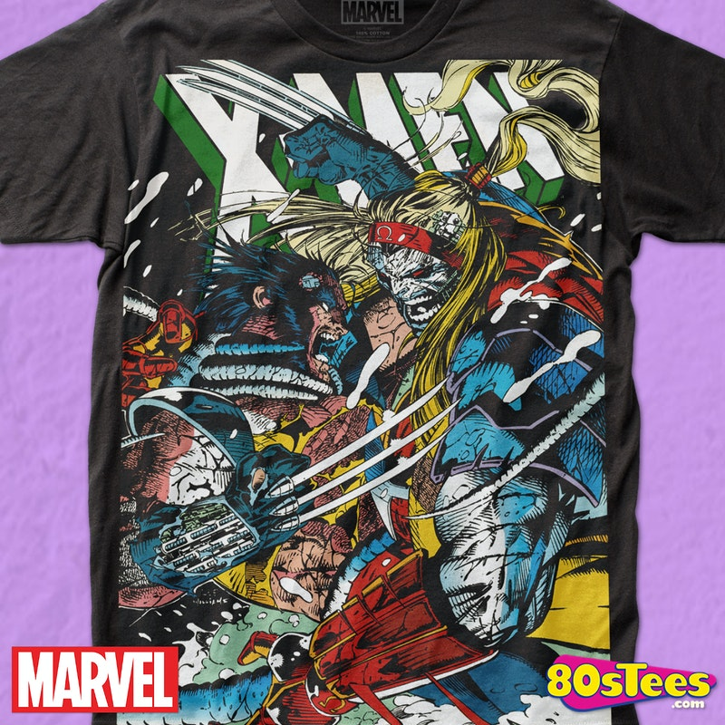 0d8b8a37 Wolverine vs Omega Marvel Comics T-Shirt