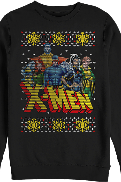 Ugly Christmas Sweater Men.X Men Faux Ugly Christmas Sweater
