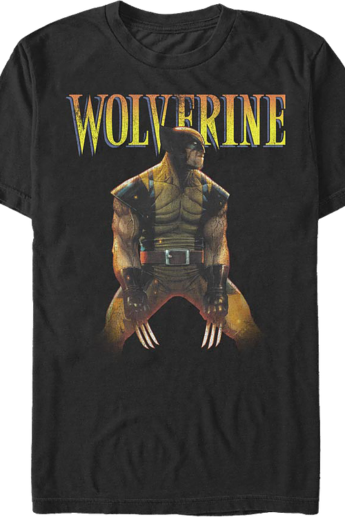 Distressed Wolverine Marvel Comics T-Shirt